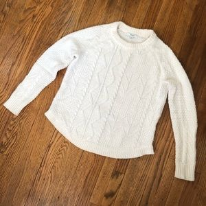 Madewell marino wool sweater cable knit